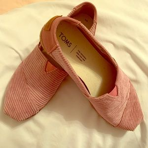 Toms Shoes Light Mauve Corduroy Venice Collection